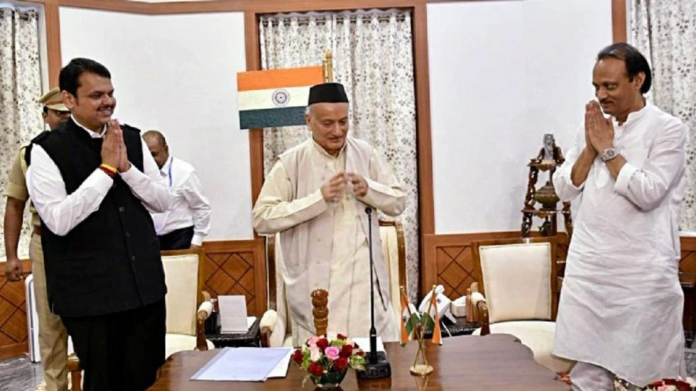 Governor Bhagat Singh Koshyari administered the oath to Devendra Fadnavis and NCP leader Ajit Pawar.