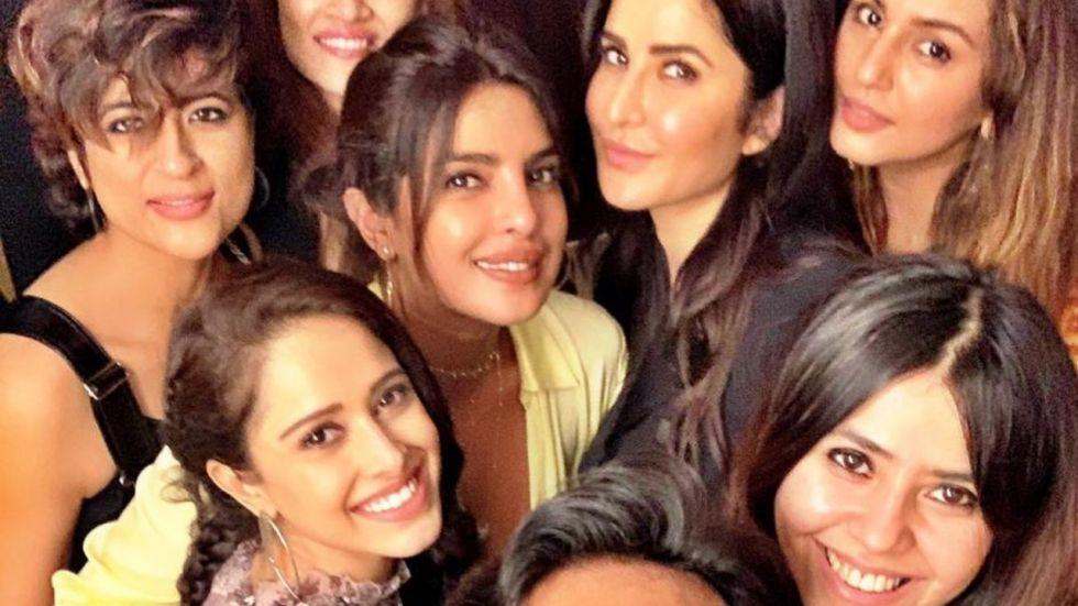 Katrina Kaif and Priyanka Chopra at Rohini Iyer's bash.