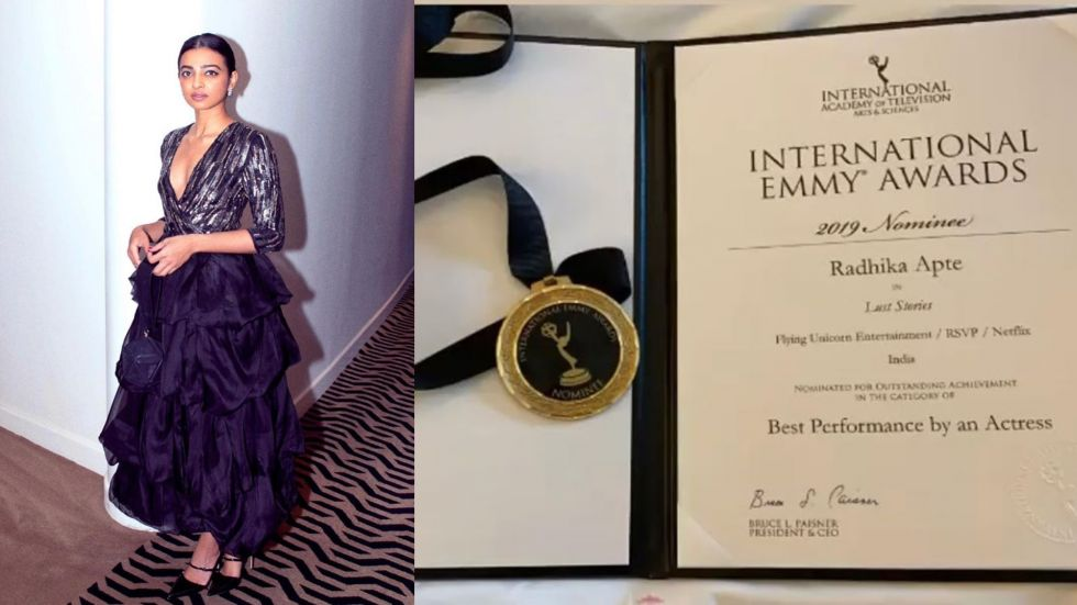 Radhika Apte Bags Nomination Medal At International Emmy Awards 2019