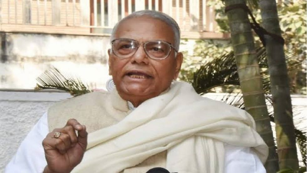 Former Union minister Yashwant Sinha