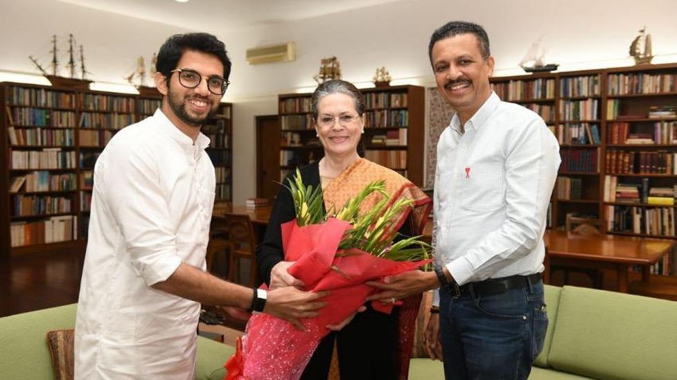 It should be noted that Sena chief's son and newly elected MLA Aaditya Thackeray had flown down to Delhi and met Gandhi to personally invite her for the ceremony.