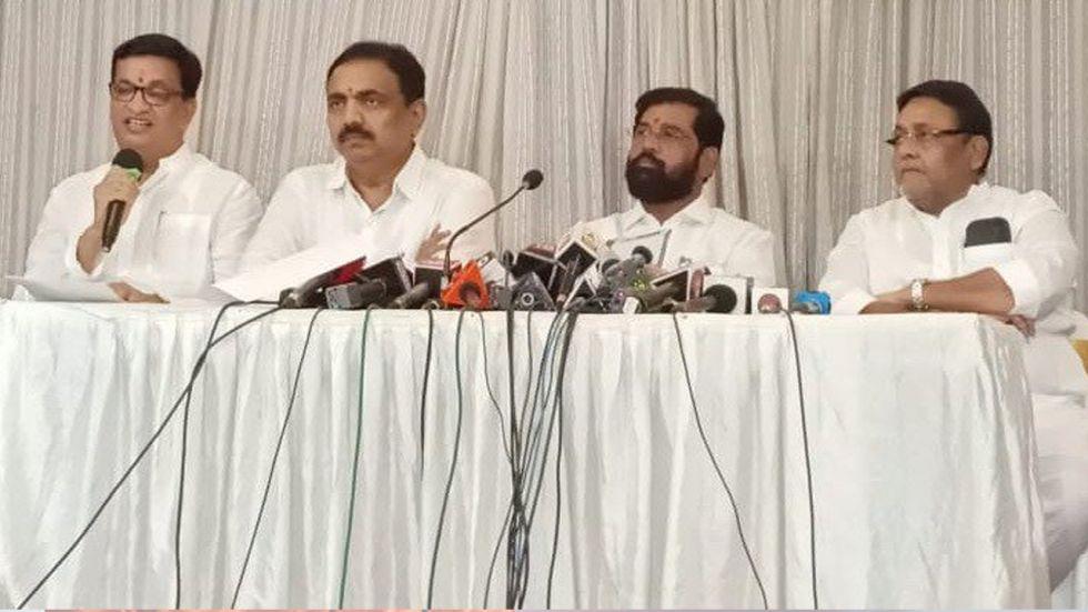 NCP-Congress-Shiv Sena leaders address media on Maha Vikas Agadi's CMP