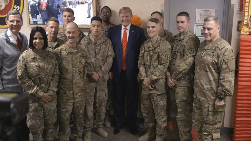US President Donald Trump an unannounced trip to Afghanistan on Thursday to celebrate the Thanksgiving holiday with US troops.