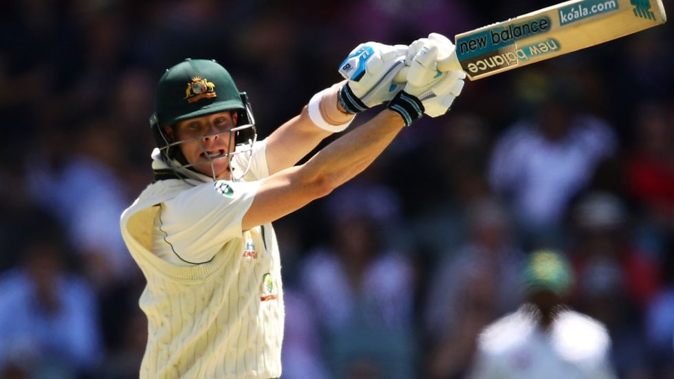 Steve Smith became the quickest to reach 7000 runs in Tests as Australia dominated the Pink Ball Test against Pakistan.