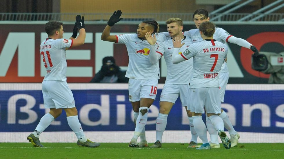 Leipzig romped to a 3-0 half-time lead thanks to goals by Patrik Schick, Marcel Sabitzer and Germany striker Timo Werner, who netted his 13th league goal.