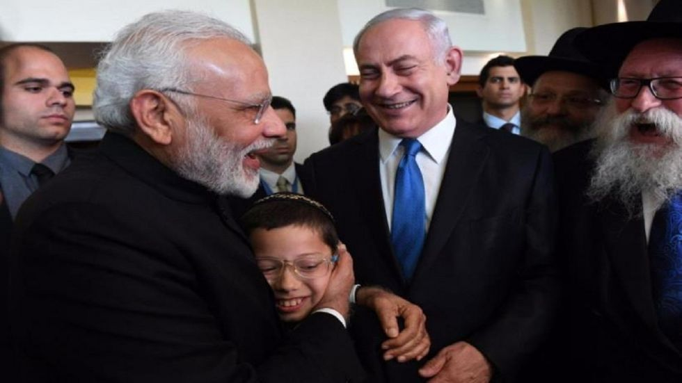 PM Narendra Modi wrote in a message to Moshe Holtzberg, who celebrated his Bar Mitzvah on Sunday.