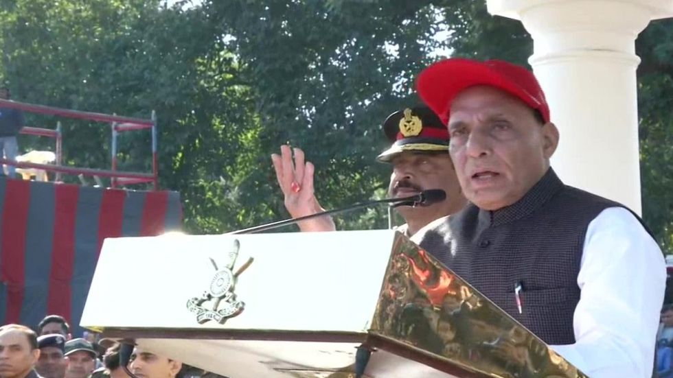 Rajnath Singh also stressed that India has no extra-territorial ambitions and asked the armed forces to be alert against Pakistan.