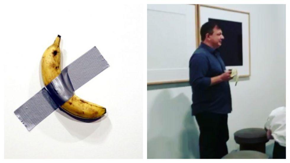 Man Casually Walks In And Devours $175k Banana 'Art'