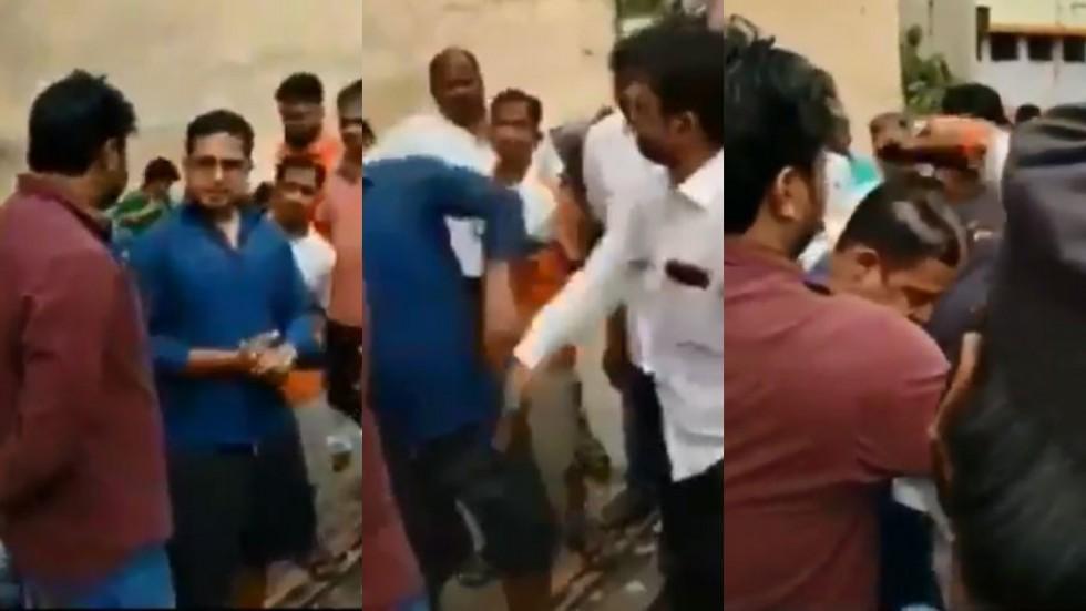Mumbai: Man Thrashed Allegedly By Shiv Sena Supporters (Screenshot)