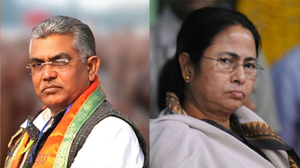 Mamata Banerjee and Dilip Ghosh