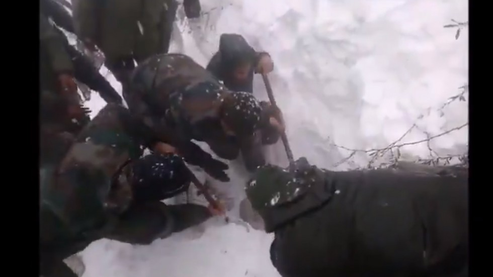 Indian Army rescues civilian