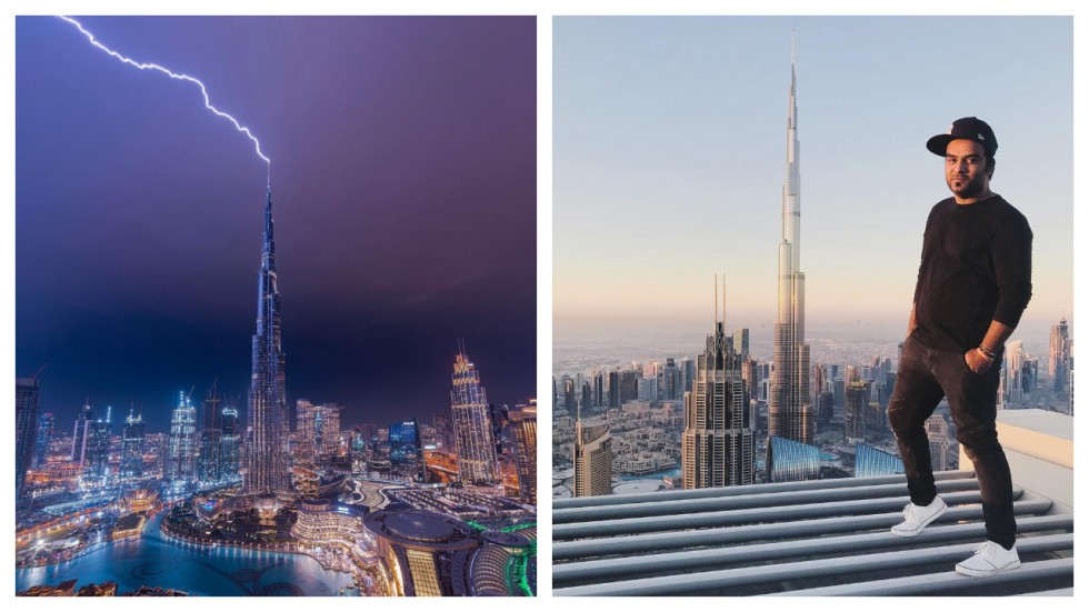 Photographer Captures Lightning Bolt Striking Burj Khalifa