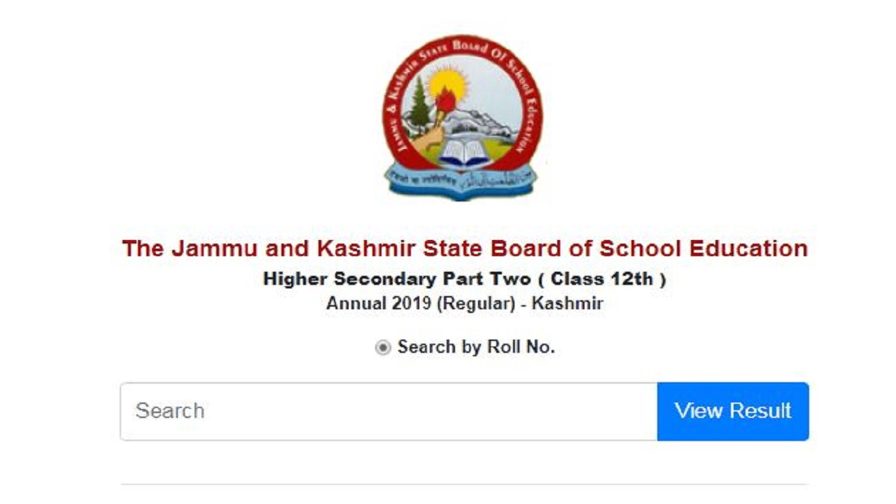 JKBOSE Class 12 Result 2019 For Kashmir Division Declared At jkbose.ac.in