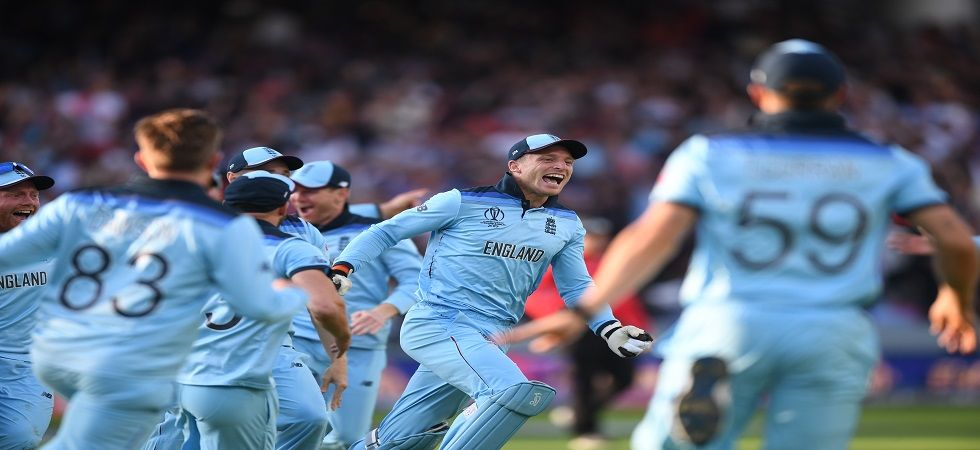 Eoin Morgan's England cricket team clinched the World Cup in dramatic circumstances after the super over was tied against New Zealand and the hosts were declared winners due to a higher boundary count.