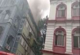 Fire breaks out at Churchill Chamber building near Taj Mahal Hotel in Mumbai's Colaba