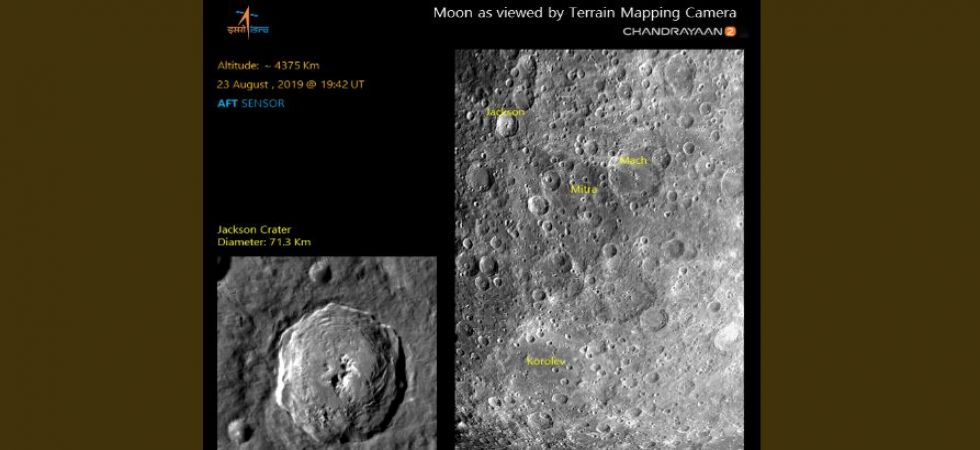 ISRO releases second Moon image captured by Chandrayaan-2 (Photo Source: Twitter - @ISRO)
