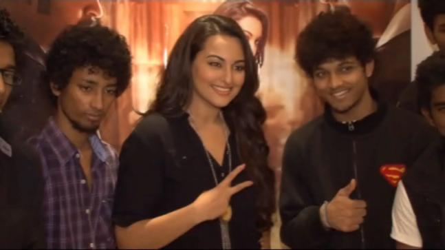 Sonakshi Sinha on the set of India's Dancing Superstars