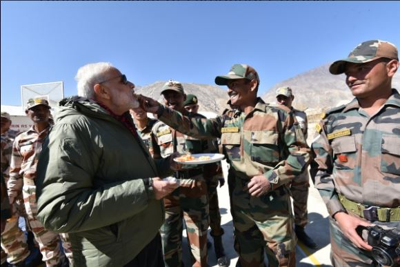 PM Modi celebrates Diwali with brave jawans of ITBP, Indian Army and Dogra Scouts in frontier region of Himachal Pradesh
