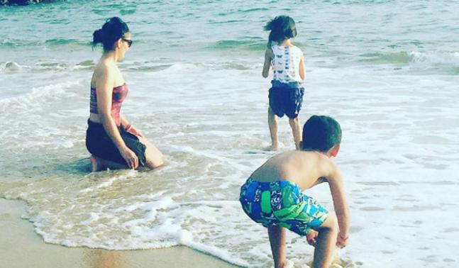Hot Mannyata Dutt holidaying in Sri Lanka with her twins