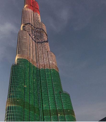 In Pics Burj Khalifa BSE Rashtrapati Bhavan illuminated in tri colour on eve of 68th Republic DAY