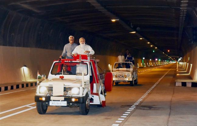 In Pics PM Modi inaugurates India s longest road tunnel in J K
