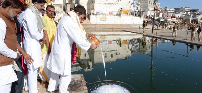 In Pictures: Rahul Gandhi on Ajmer, Pushkar tour in poll-bound Rajasthan