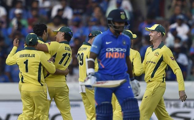 ms dhoni kedar jadhav fifties help india beat australia by six wickets in hyderabad odi