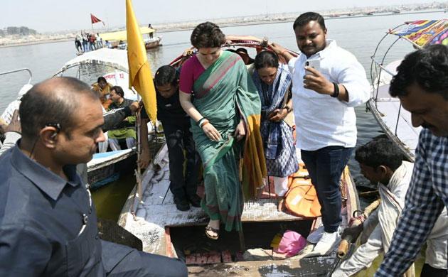 In Pictures: Priyanka Gandhi Ganga yatra from Allahabad to Varanasi