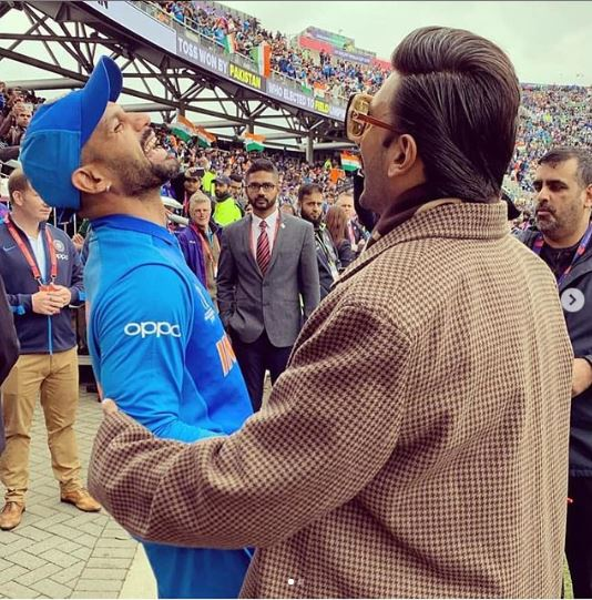 Ranveer Singhs day out with cricketing greats at India vs Pakistan World Cup Match Manchester June 16