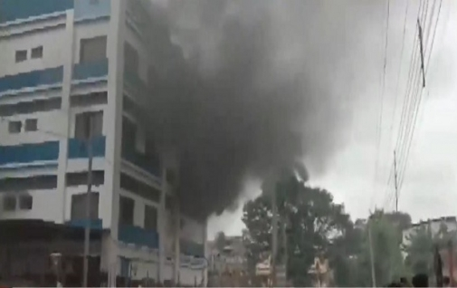Fire breaks out at government hospital in West Bengal.