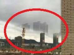 Floating city appears in China sky