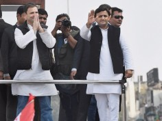In Pics Akhilesh Rahul bonhomie reflects during campaign for UP Polls