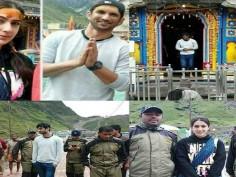 In Pics Sara Ali Khan and Sushant Singh Rajput offers prayers at Kedarnath Temple