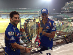 Mumbai Indians celebrate CLT20 win