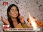 Hina Khan celebrates birthday with News Nation