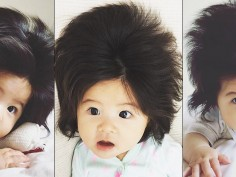 Baby Chanco The one-year old Japanese girl with thick who is the youngest face of Pantene