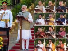 In pictures: Narendra Modi swearing in ceremony