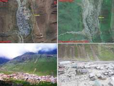 Satellite images of devastated Uttarakhand