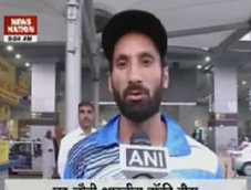 Victorious Indian hockey team returns home