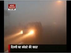 Dense fog envelopes Delhi