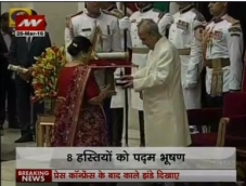 Padma awards conferred to 56 eminent persons