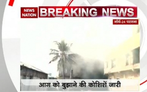 Four firefighters injured while dousing massive blaze at chemical factory near Kolkata airport