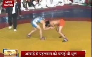 Baba Ramdev defeats Olympic silver medallist in wrestling bout