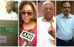 Voting begins for cash-rich BMC, 9 other Maha civic bodies: Who's who of Mumbai come out to vote