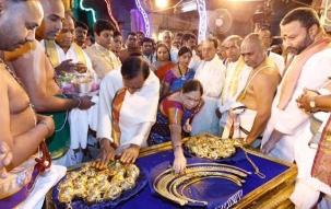 KCR's Temple Run: Telangana CM fulfils Rs 5 crore vow at Tirumala temple