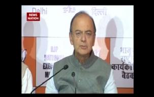Finance Minister Arun Jaitley addresses media on BJP National Executive meeting