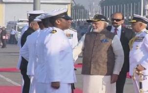 PM Modi addresses press conference in Mumbai on commissioning INS Kalvari