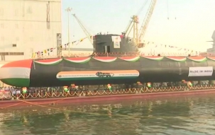 INS Karanj, 3rd Scorpene class submarine, launched by Indian Navy