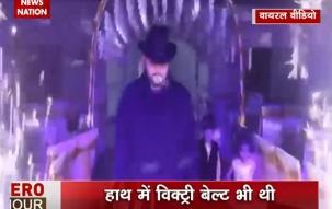 Pakistani groom gets inspired by WWE star Undertaker; enters like him!