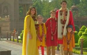 Canadian Prime Minister Justin Trudeau reaches Gujarat